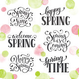Spring time wording Stock Images