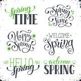 Spring time wording Royalty Free Stock Photos