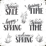 Spring time wording Royalty Free Stock Image
