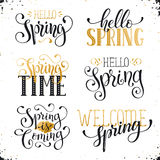 Spring time wording Royalty Free Stock Photo