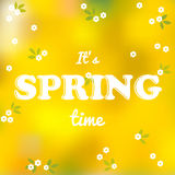 It is spring time words Stock Photo