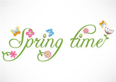 Spring time words illustration Stock Images