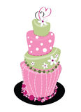 Spring Topsy Turvy Cake Royalty Free Stock Photos