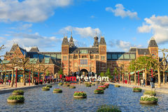 Spring tourism Amsterdam Stock Photography