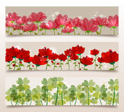 Spring transparency banners Stock Images