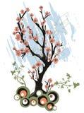 Spring tree background Stock Photos