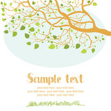 Spring tree card Royalty Free Stock Photo