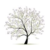 Spring tree floral for your design Royalty Free Stock Images