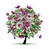 Spring tree floral for your design Royalty Free Stock Photography
