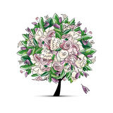 Spring tree floral for your design Stock Images