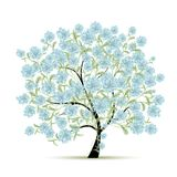 Spring tree with flowers for your design Royalty Free Stock Photography