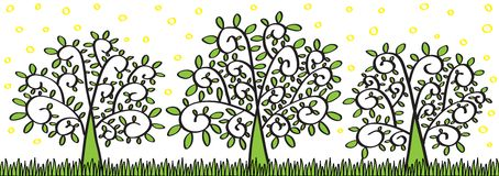 Spring Trees stock illustration