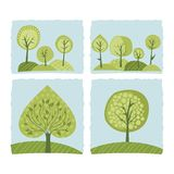 Spring Trees Set Stock Image