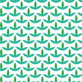 Spring trefoil leaves seamless vector pattern. Stylized retro all over print. Seasonal fresh nature fashion fabric. Trendy. Scrapbook paper. Simple garden royalty free illustration