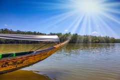 Spring trip to native boat Longtail Royalty Free Stock Images