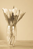 Spring tulips in a vase Royalty Free Stock Photo
