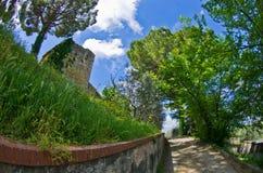 Spring in Tuscany, a walk in park near San Gimignano Stock Photos