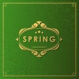 Spring Typographic Design. Stock Images