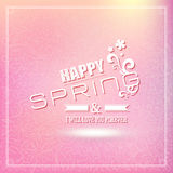 Spring Typographic Design. Stock Photos