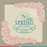 Spring Typographic  on Vintage background Stock Images