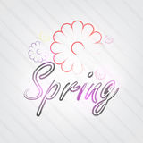 Spring Typography Royalty Free Stock Image