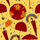 Spring umbrellas pattern Royalty Free Stock Photo