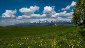 Spring under the High Tatras, Slovakia. High Tatras, Slovakia in spring Stock Photos