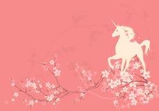 Spring unicorn background Stock Images