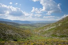 Spring valley at Gredos mountains Stock Image