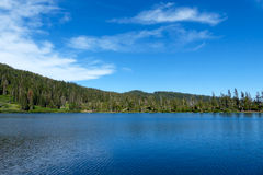 Spring Valley Lake. One of the High Lakes in Plumas County, California Stock Images
