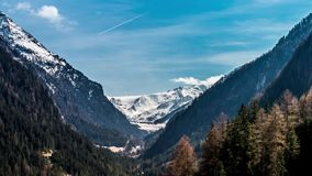Spring Valley Timelapse 4k. Timelapse of a valley in Austria. This is made in 4k resolution stock footage