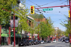 Spring in Vancouver's China Town Royalty Free Stock Photography