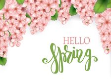 Spring vector banner design stock illustration