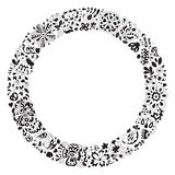 Spring vector doodle frame. Royalty Free Stock Images