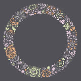 Spring vector doodle frame. Royalty Free Stock Photo