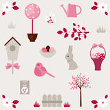 Spring vector icons set Royalty Free Stock Image