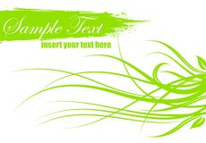 Spring vector illustration with text space Royalty Free Stock Photography