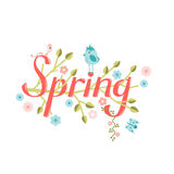 Spring vector lettering Royalty Free Stock Photos