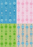Spring vector patterns Royalty Free Stock Photos