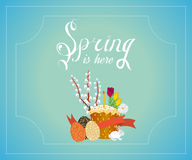 Spring vector typographic. Easter poster Royalty Free Stock Photo