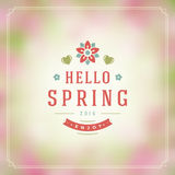 Spring Vector Typographic Poster or Greeting Card Design. Stock Image