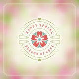 Spring Vector Typographic Poster or Greeting Card Design. Royalty Free Stock Photos