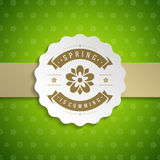Spring Vector Typographic Poster or Greeting Card Design. Royalty Free Stock Image
