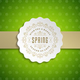 Spring Vector Typographic Poster or Greeting Card Design. Royalty Free Stock Images