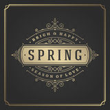 Spring Vector Typographic Poster or Greeting Card Design. Royalty Free Stock Photography