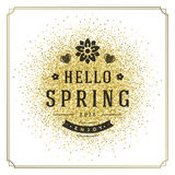 Spring Vector Typographic Poster or Greeting Card Design. Stock Photography