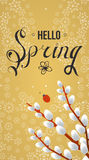 Spring vector typographic poster and logo. Royalty Free Stock Photography