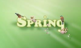 Spring Vector Word stock illustration