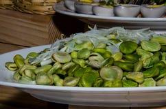 Spring vegetable salad stock images