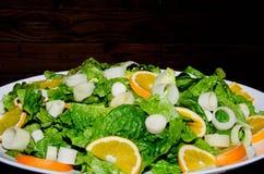 Spring vegetable salad stock image